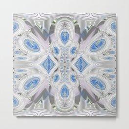 Magical Crystal Candies in Blue Metal Print