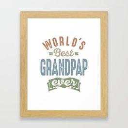 World's Best Grandpap Framed Art Print