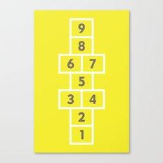 Hopscotch Yellow Canvas Print