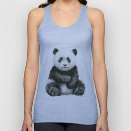 Panda Baby Watercolor Animal Art Unisex Tank Top