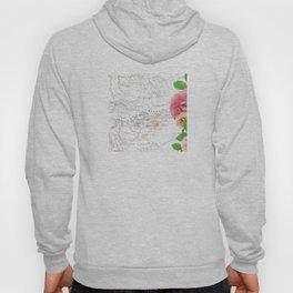 Map & Flower Hoody