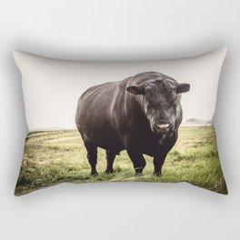 Big Black Angus Bull Rectangular Pillow