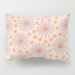 Carousel Retro Blue Pillow Sham