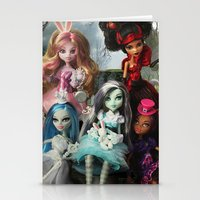 monster high Stationery Cards featuring We're All Mad Monster High Dolls MHSQ by Renée