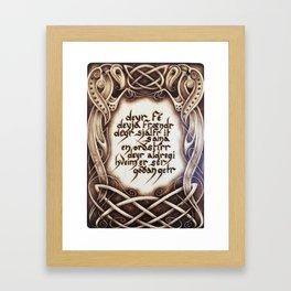 Havamal 77 Framed Art Print