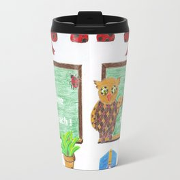 Owl with a geometrical pattern  Travel Mug