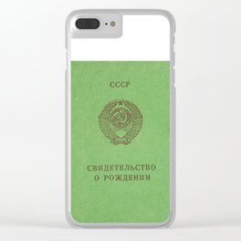 Soviet prove Clear iPhone Case