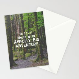 Peter Pan and Forrest Lands Stationery Cards