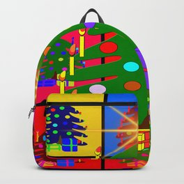 Christmas ornaments advent ball Backpack