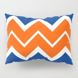 Big Chevron:  Blue + Orange Pillow Sham