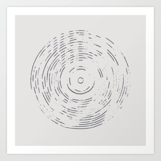 Record Black and White Art Print