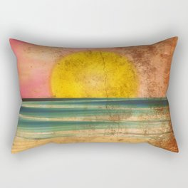 Ocean Sunset Vintage 2.0 Rectangular Pillow