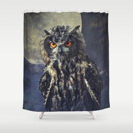 Eagle-Owl Shower Curtain