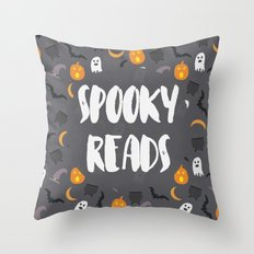 Spooky Reads Throw Pillow