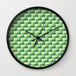 Green Organic Pattern Wall Clock