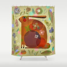 ORANGE BUNNY Shower Curtain