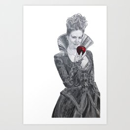Apple red as blood Art Print