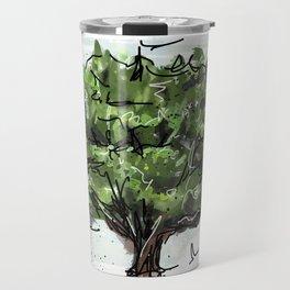 Green tree Travel Mug
