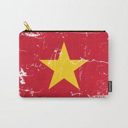 Vietnam Flag with Grunge effect Carry-All Pouch