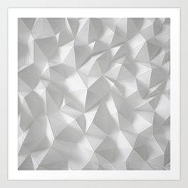 White polygonal landscape Art Print