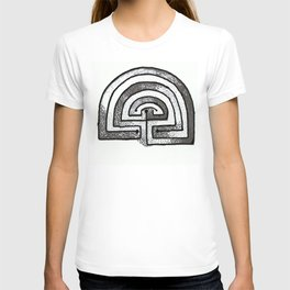 Labyrinthine life monochrome T-shirt