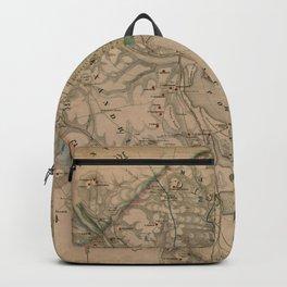 Vintage Washington DC Civil War Defenses Map (1864) Backpack