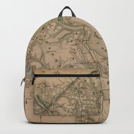 Vintage Washington DC Civil War Defenses Map (1864) Backpack