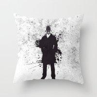 watchmen Throw Pillows featuring WATCHMEN - RORSCHACH by Zorio
