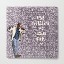 Leslie Odom Jr. (with Burr Quote) Metal Print