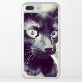 here, kitty. Clear iPhone Case