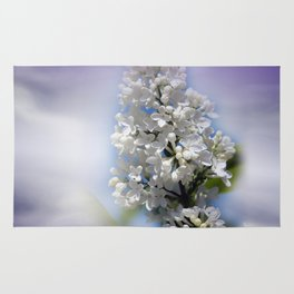 white lilac on textured background -a- Rug