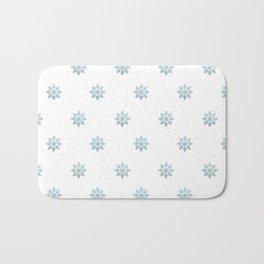 Blue Glitter Snowflake Bath Mat