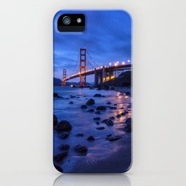 Golden Gate Bridge During Blue Hour iPhone Case