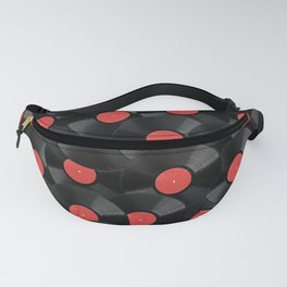 Vinyl Records Pattern (Red) Fanny Pack