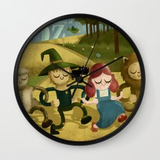 Wizard of Oz fan art Wall Clock
