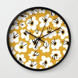 Florals (Mustard) Wall Clock