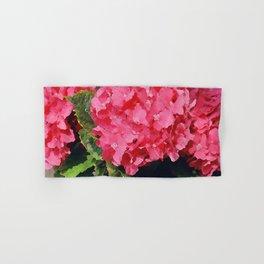 Pink Hydrangeas Hand & Bath Towel