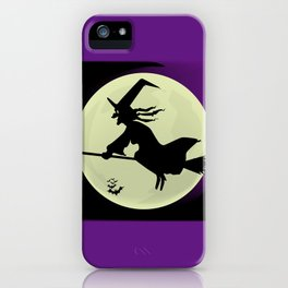 Witch and the Moon iPhone Case