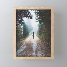 Girl on Nature Path Framed Mini Art Print