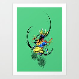 Colors of Anger Art Print