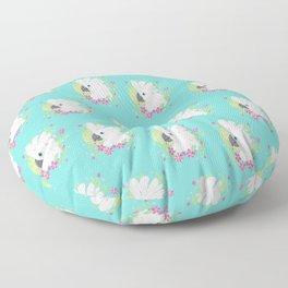 Umbrella Cockatoo Floor Pillow