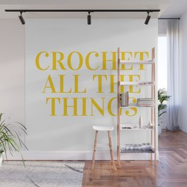Crochet All The Things in Yellow Wall Mural