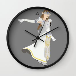 Princess Zelda(Smash)White Wall Clock