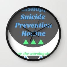 Grasshopper Suicide Prevention  Wall Clock