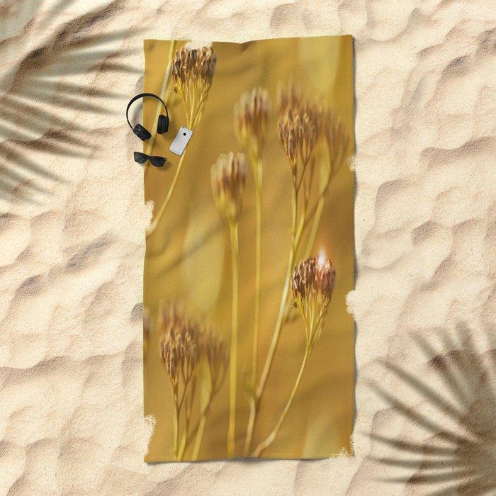 Autumn wildflowers in forest #decor #buyart #society6 Beach Towel