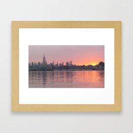 Sunrise over NYC Framed Art Print