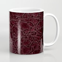 Dark frayed leather texture abstract Coffee Mug