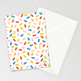 Livin' It - abstract pattern minimal modern primary colors pantone gender neutral retro throwback Stationery Cards