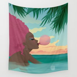Bubblegum Beach Wall Tapestry