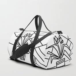 Flowers on the window -coloring Duffle Bag